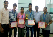 Runner Up in Project Exhibition 2014 held at D. Y. Patil Polytechnic, Nerul, Navi Mumbai